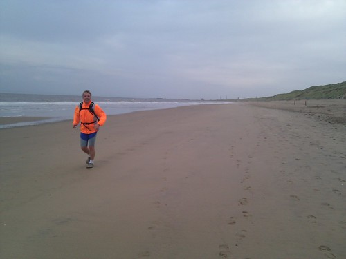 Running along the beach with my dad (Zandvoort-IJmuiden and back). Best way to get over jet lag.