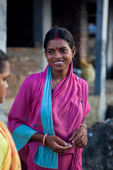 La gentillesse indienne (hubertguyon) Tags: portrait woman india smile asia village earth femme young delta western sourire bengal inde jeune gange sundarban bengaleoccidental earthasia