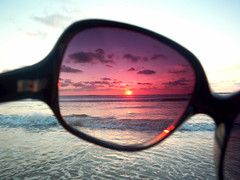 """Beauty is in the eye of the beholder"" (Dappled_dag) Tags: ocean california ca pink blue sunset red white eye beach beautiful beauty sunglasses is looking pacific shades pines through poway beholder torrey thechallengefactory"