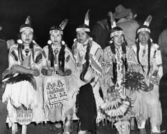 Indian women view ceremonial dance