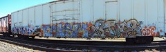 End2End (+PR+) Tags: railroad chicago graffiti trains railfan freight boxcars railcars rollingstock rxr benching