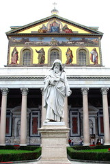 St. Paul and His Basilica in Rome (DenesG1-still off, computerproblems) Tags: italy rome roma church statue italia religion christianity catholicism apostle otw topshots basilicadisanpaolo bej mywinners abigfave crystalaward canons5is dragondaggeraward denesg1 flickrsportal