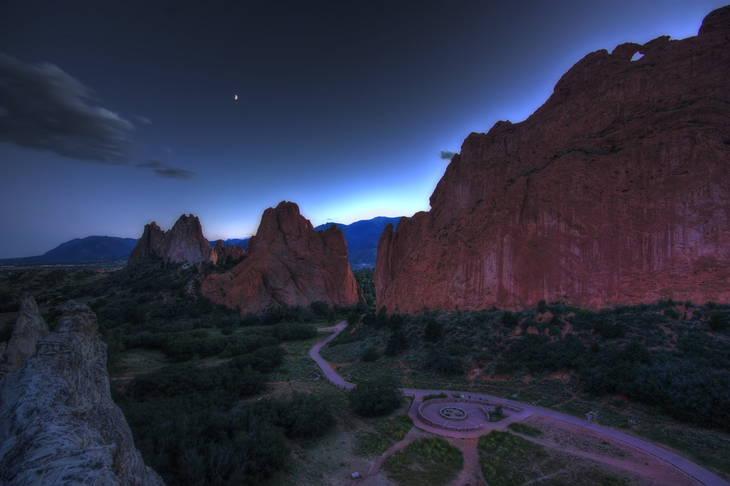 Twighlight over the Garden of the Gods