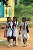 Back to school (Ghadeer Q) Tags: travel school girls smile canon happy uniform asia srilanka schoolgirls giggles backtoschool habarana canon70200 ghadeerq summer2010