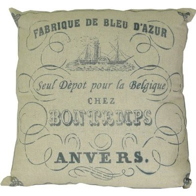 Antwerp-Belgium-Ephemera-Printed-Pillow