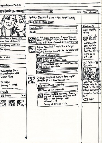 """Facebook | Cydeny MacNeill"" third sketch"