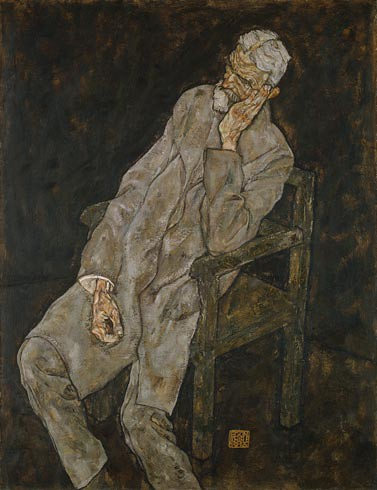 Portrait of Johann Harms, 1916. Oil with wax on canvas, Egon  Schiele