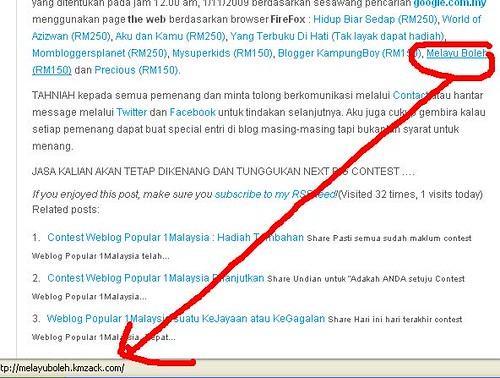 Pemenang Cabaran Weblog Popular 1Malaysia