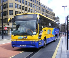 Stagecoach Highland ( Inverness ) .  54034 SF07AOA . Newcastle City Centre . 21st-August 2010 (AndrewHA's) Tags: newcastle volvo coach scottish panther stagecoach megabus citylink plaxton 54034 b12b sf07aoa
