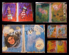 some of my latest art journaling