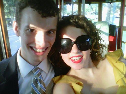 Us on a streetcar