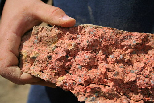 red conglomerate? rock