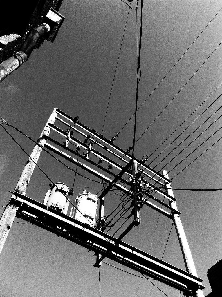 Power Lines B&W