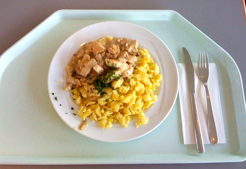 Putenbruststreifen mit Spätzle / turkey breast stripes with spaetzle