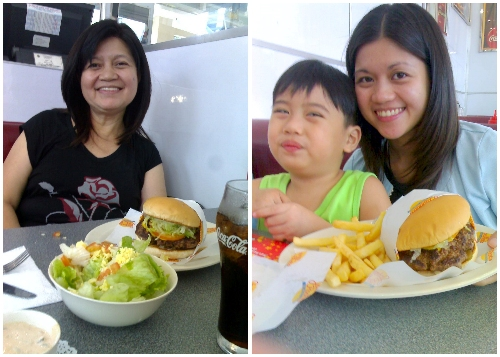 Johnny-Rockets Original burger, Johnny Rockets Eastwood restaurant, unlimited fries