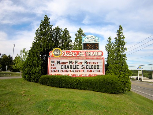 Circle Drive In Movie Theatre Sign