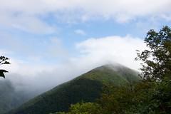 前天塩岳の山頂は雲の中