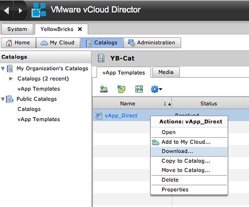 RE: Migrating your VMs from vSphere to vCloud Director and