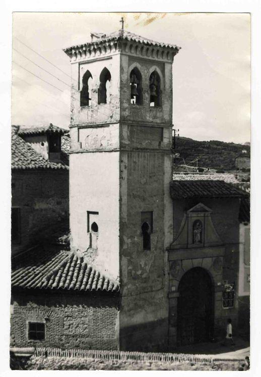 Iglesia de San Cipriano hacia 1970. Colección Luis Alba. Ayuntamiento de Toledo