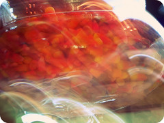 Candy Corn Cloud (lostvestige) Tags: light food orange cloud white blur halloween kitchen glass yellow dessert photo corn yum candy image bokeh picture container delicious eat photograph afhht nikoncoolpixp100