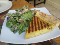 Vegan quiche at sacred chow.. This was incredible.