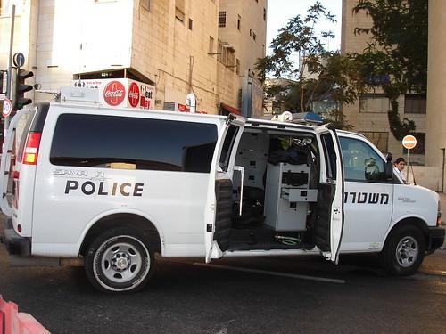 Bomb-defusing van