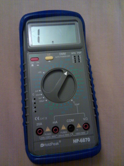 cheap multimeter, front view