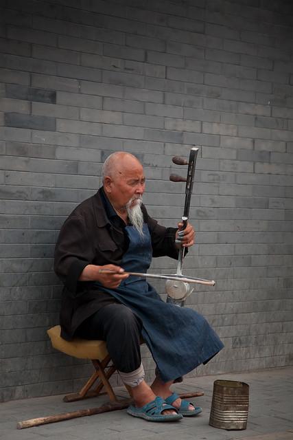 Blind street musician, Beijing