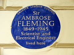 Photo of John Ambrose Fleming blue plaque