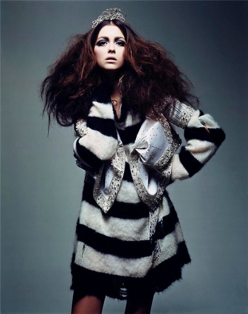 Morgane Dubled by Craig McDean Vogue France March 2004 Grunge Couture 5