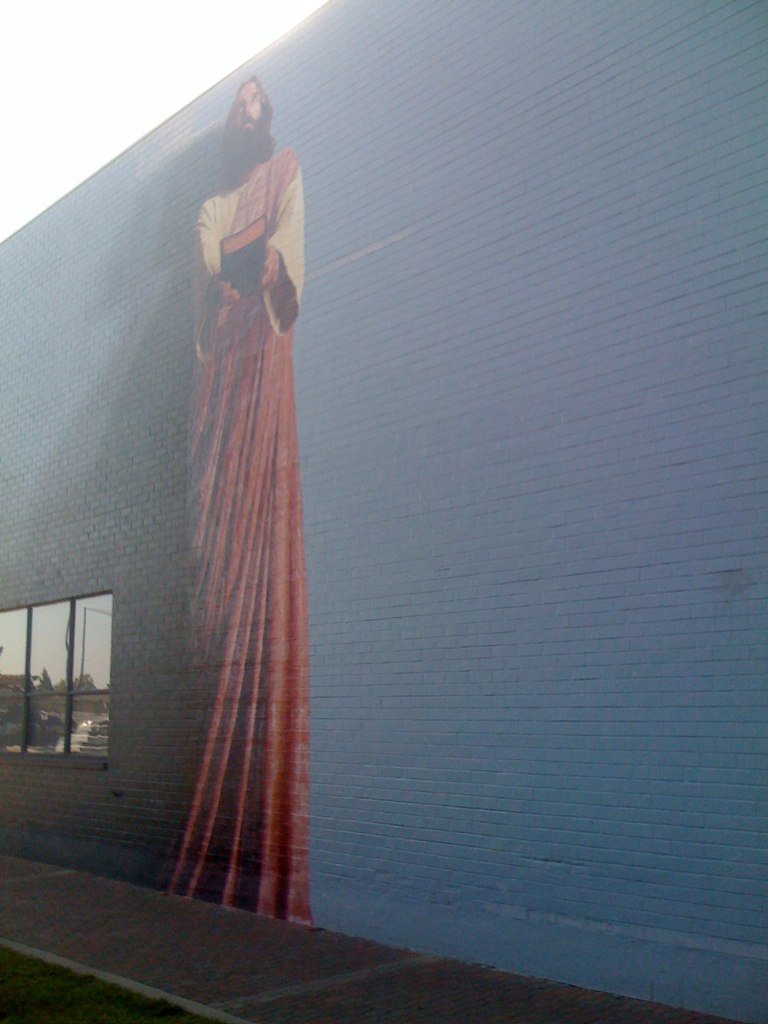 The world 39 s best photos by djchuang flickr hive mind for Biola jesus mural