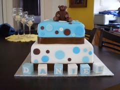 Teddy Bear Hugs & Kisses (Cake It by Violeta Vasilevska) Tags: cake christeningcake chocolatemudcake christeningcakes teddybearcakes