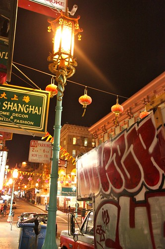 lamppost in chinatown