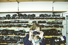 (yyellowbird) Tags: camera girl photography store montana cari billings