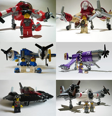 Pilots and their planes (JonHall18) Tags: plane fighter lego aircraft scifi bomber gunship moc skyfi dieselpunk dieselpulp