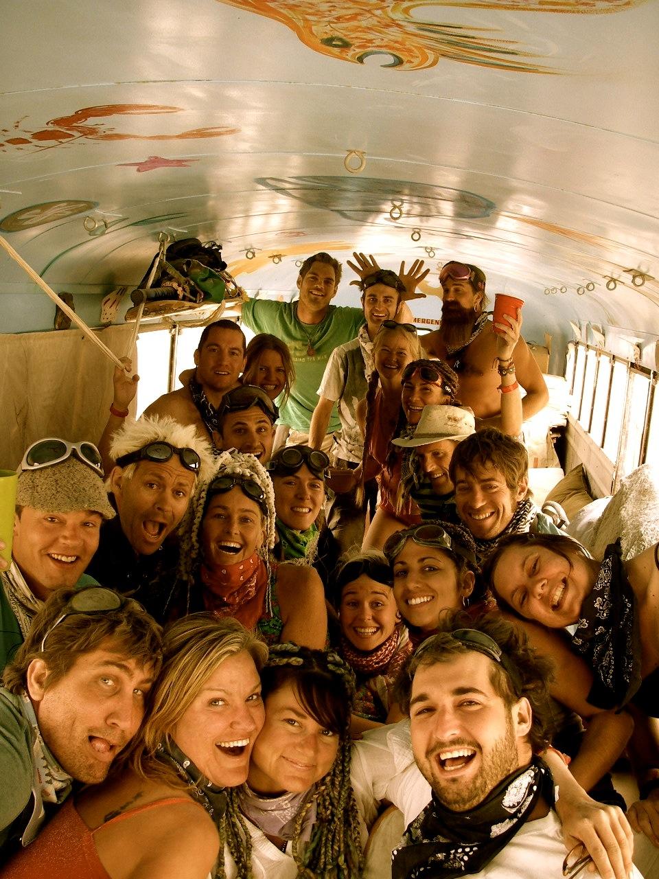 BM DO group on bus