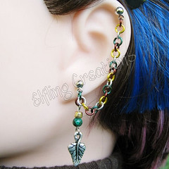 Woods of Lothlorien - Leaf Cartilage Chain Earring
