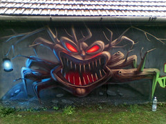 Dark Forest Nightmare Project (Fat Heat .hu) Tags: wood art monster forest graffiti character eger can spray graffity figure cfs fatheat