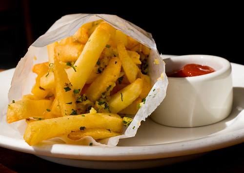 Garlic herb fries, Astor Bake Shop