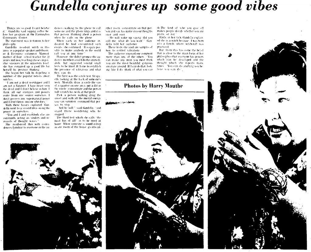 Gundella Conjures Up Some Good Vibes Farmington Observer October 09, 1975