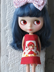 """Pouch Pocket dress - """"Lil' Red"""""""