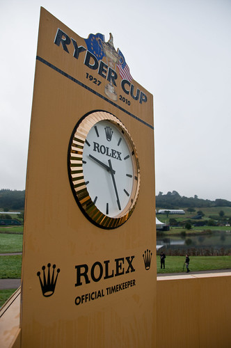 rolex commercial golf. Rolex clock on the 7th tee