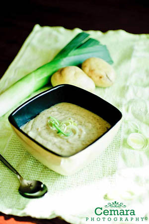 Cheese Leek Mushroom Potato Soup by Carolina