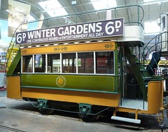 Blackpool Electric Tramway Company Car No 4, National Tramway Museum, Crich Tramway Village Derbyshire (woodytyke) Tags: uk travel winter light england english history window car electric gardens museum photography hall photo stair track village open britain top district derbyshire united transport tram peak rail kingdom exhibit exhibition system deck upper national electricity restored destination restoration british passenger lower mass tramway blackpool isles powered livery crich tramways woodytyke