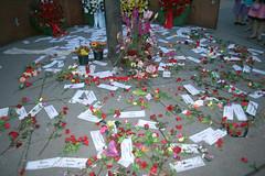 Gedenkstätte Oktoberfestattentat - Blumen