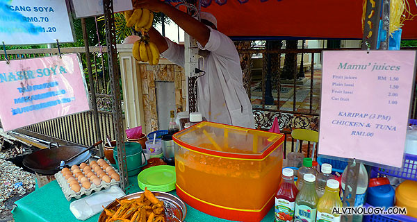I ordered a banana lassi from this roadside store