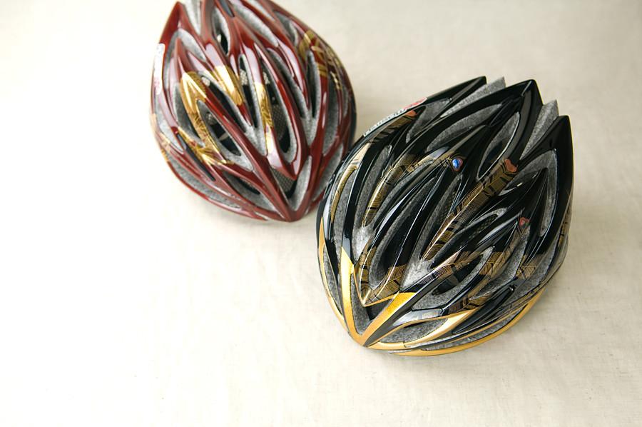漆塗りサイクルヘルメット
