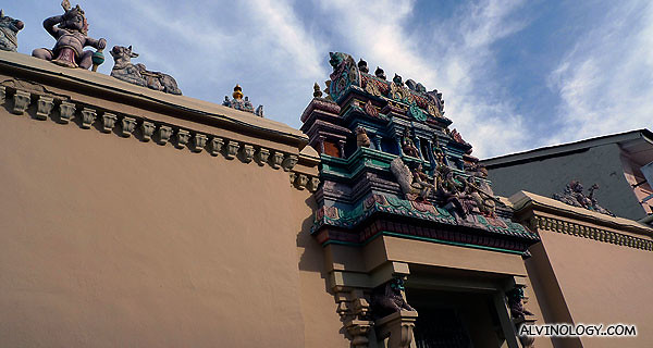 The back of the temple