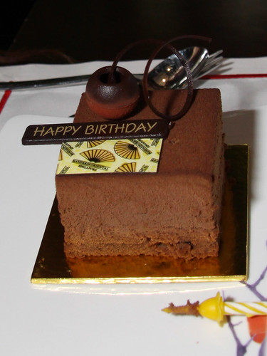 Complimentary individual birthday cake