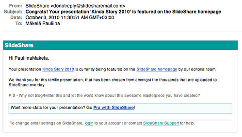 Message from Slideshare
